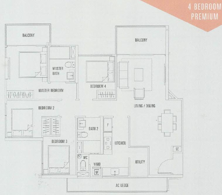 4 Bedroom Premium